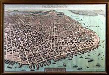 Vintage San Francisco Panama Pacific Expo City Map