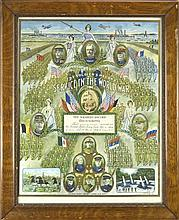1919 Framed Soldier's Record Lithograph