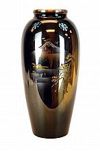 Japanese Mixed Metal Mt. Fuji Vase