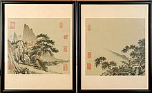 PAIR Japanese Silk Painting Lot