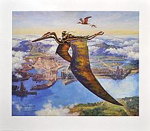 DINOTOPIA - SIGNED BY JAMES GURNEY: 1992 - ARTIST'S PROOF 83/100 - LEATHER COVER