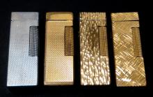 4Pc Dunhill Rollagas Lighters Gold & Silver Plated