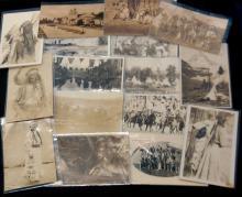 16Pc Vintage Native American Photo Style Postcards