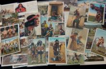 63Pc Vintage Native American Postcards