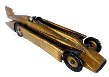 #1 Kingsbury Golden Arrow Steel Racer Car