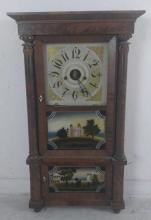 Forestville 8 Day Clock, Reverse Painted Glass