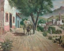 Signed Oil Painting, Country Scene