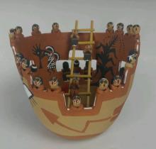 Native American Storyteller Pottery Vase