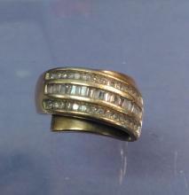 10K Gold Men's Diamond Ring Sz 7