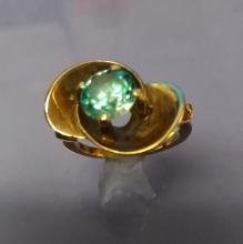 10K Gold Cocktail Ring, Topaz Sz 6