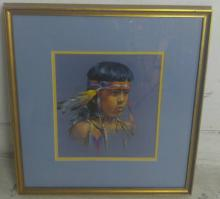 Carolyn Anderson Pastel of Native Child