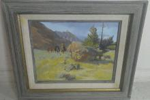 Glen S. Hopkinson Oil Painting of Frontier Man