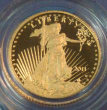 2011 U.S. $5 American Eagle Gold Coin 1/10 OZ