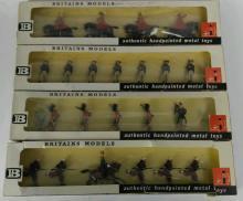 4 Complete Britains LTD Metal Soldiers Sets in Box