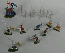 13 Piece Britains LTD Metal Knights
