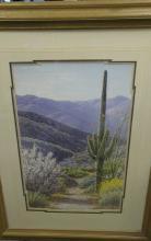 Framed Desert Landscape Print