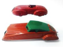 2Pcs. Pressed Tin Toy Cars, General Toy Production