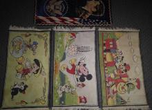 3 Vintage Disney & American Rugs