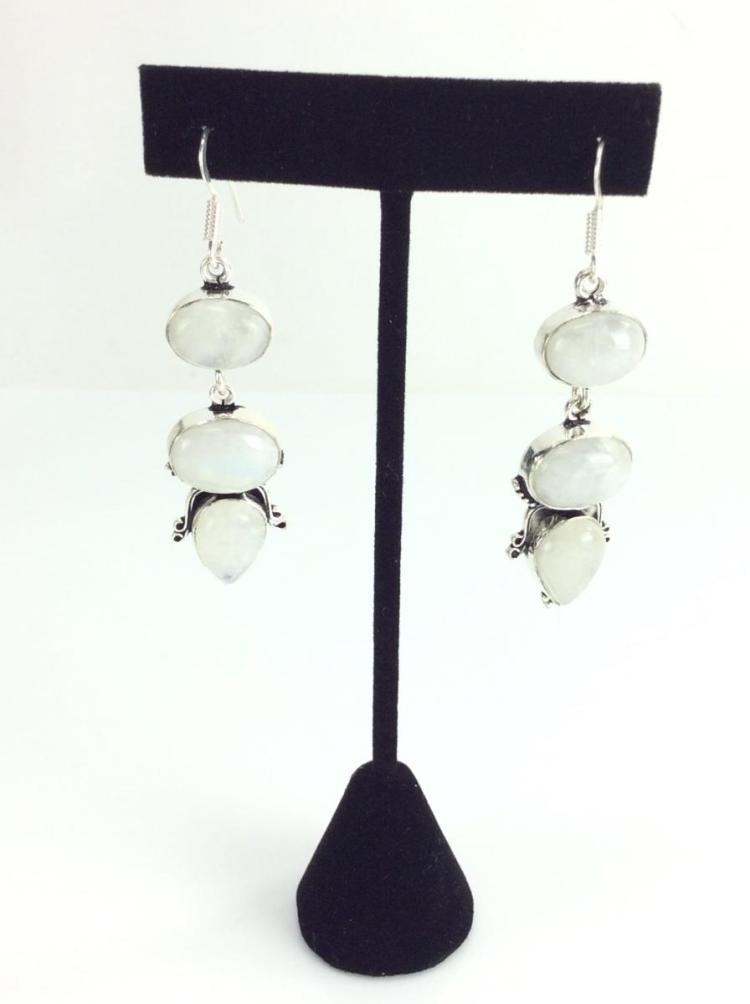 Sterling Silver & Moonstone Earrings
