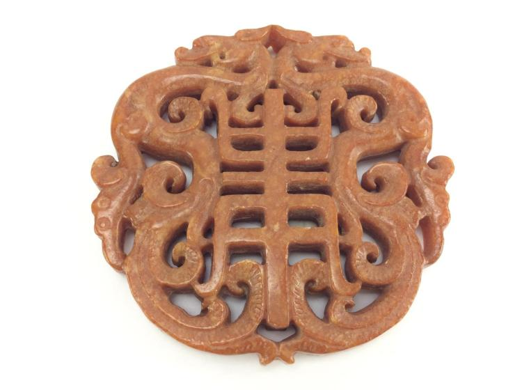 Duel Dragon Jade Carving