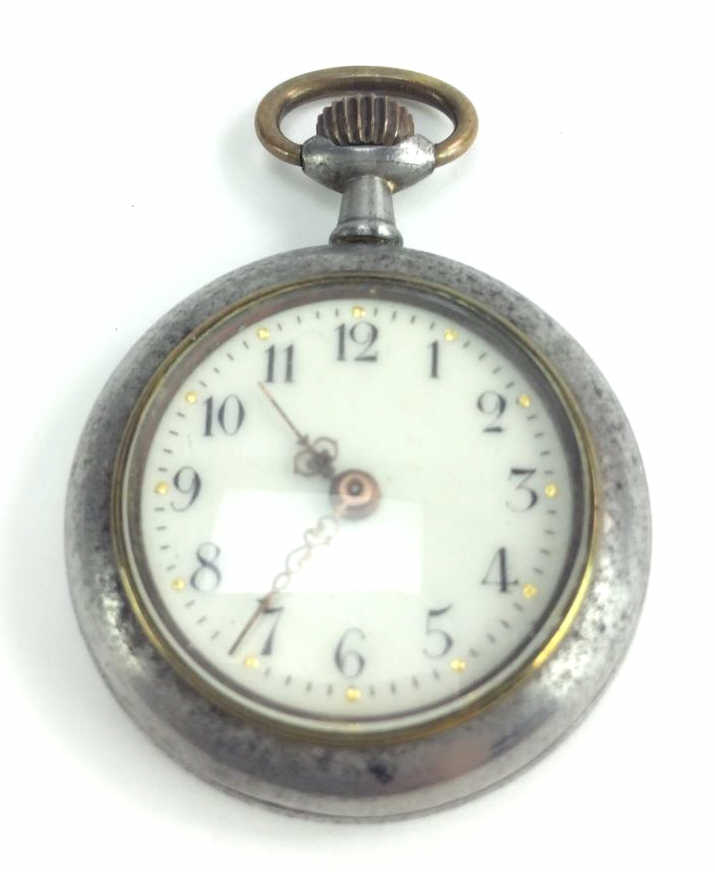 Swiss Enamel Dial Ladies Pocket Watch