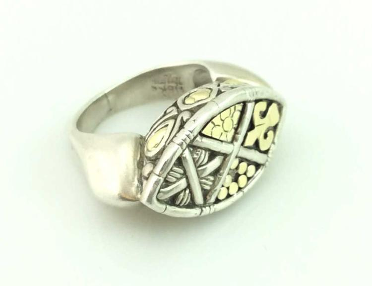 18K Gold Sterling Silver Hardy Ring