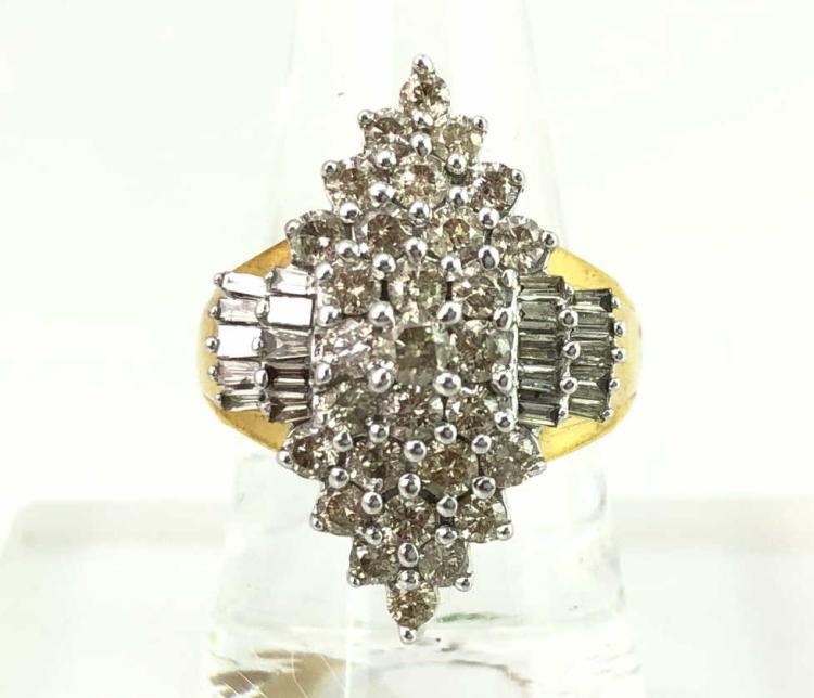 10K Gold Diamond Cluster Ring