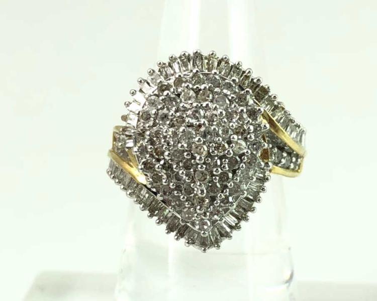 14K Gold Diamond Estate Ring