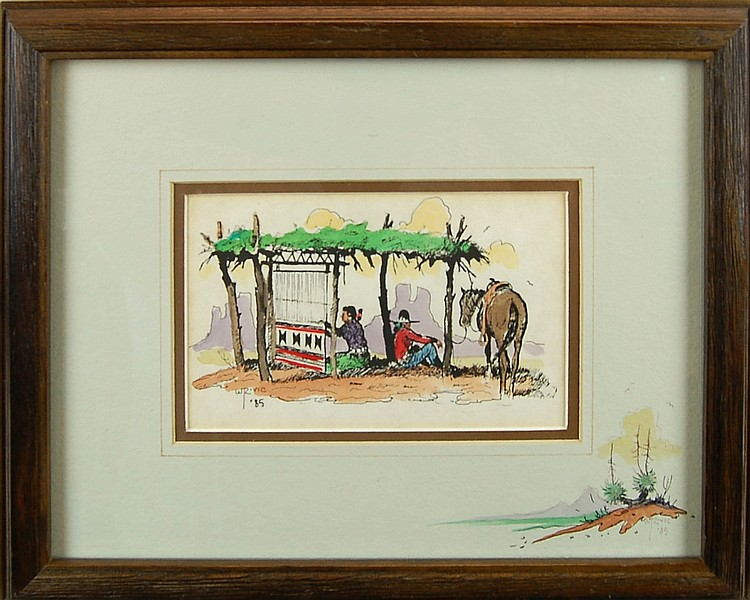 William Zivic Rug Weaver Watercolor