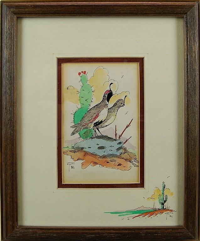 William Zivic Quail Watercolor
