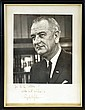 Signed Lyndon B. Johnson (LBJ), Presidential Photo