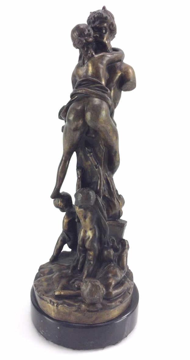 Claude Michel Clodion, Woman Hugging Statue Bronze