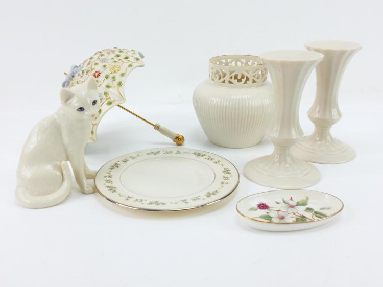 7pc. Lenox Porcelain Dishes & Figures