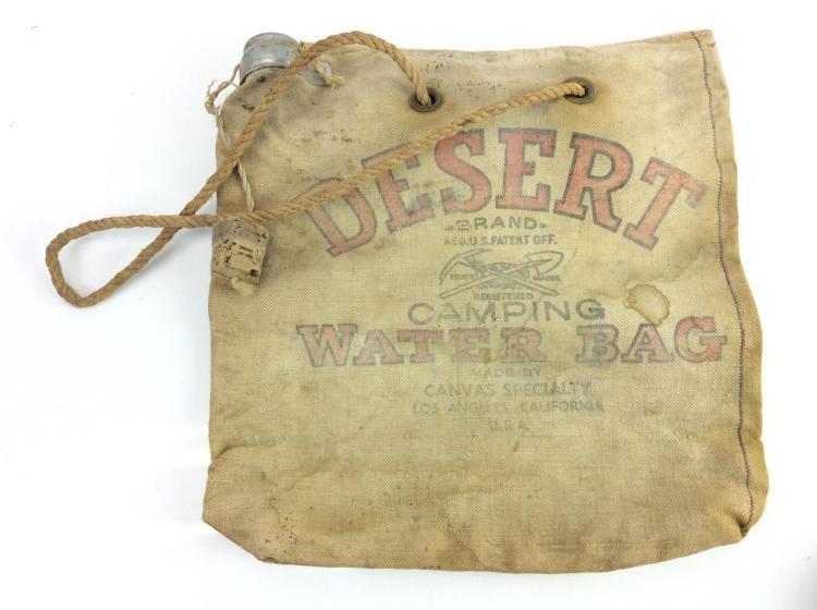 Vtg. Desert Brand Camping Canvas Water Bag
