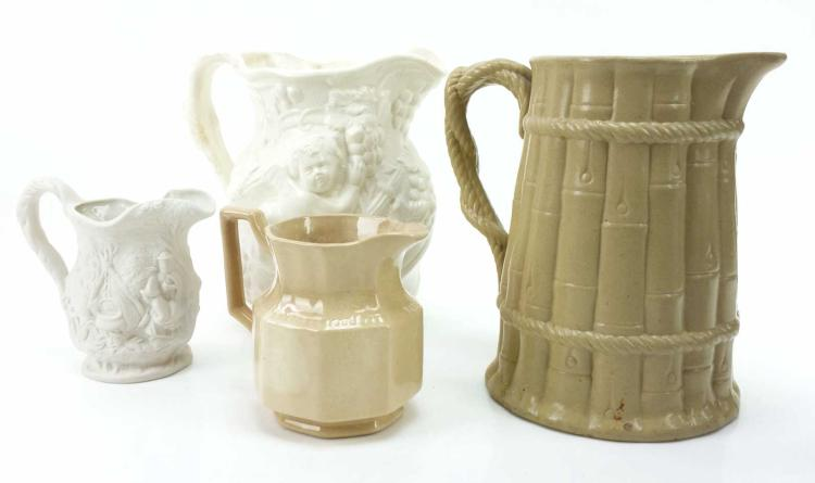 4pc. Marked Ceramic Pitchers