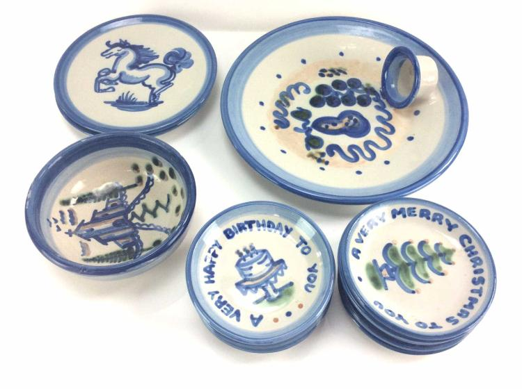 M.A. Hadley Stoneware Plates & Bowl