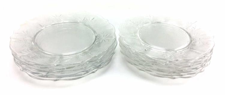 Etched Clear Dinner Plates