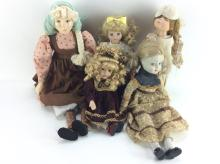 Five Collector Dolls