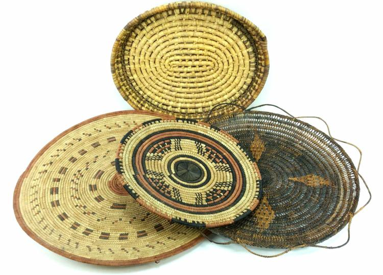 4pc. Hand Woven Tribal Plates