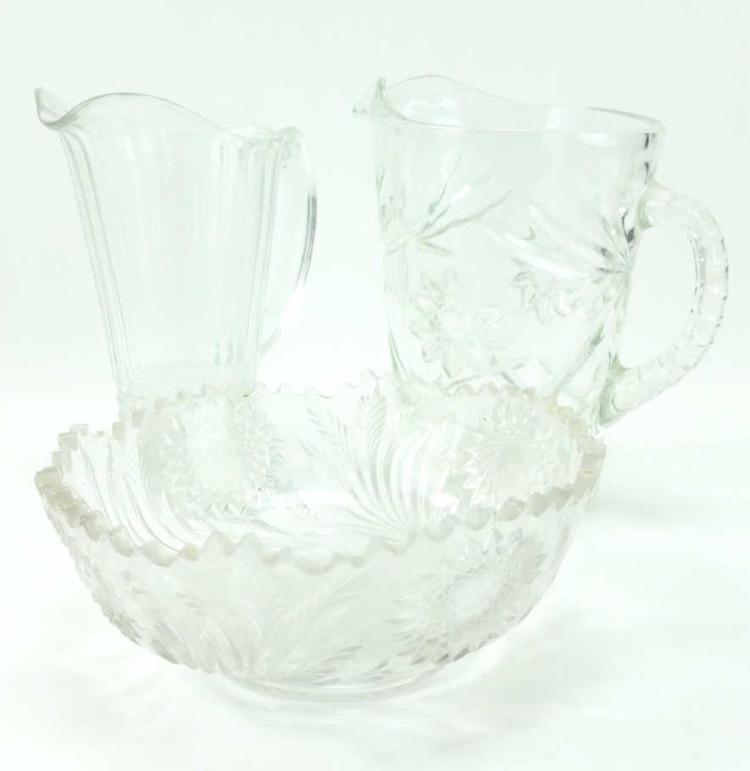 Assorted Glass Pitchers & Bowls