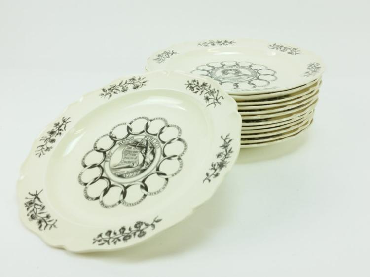 13pc. Wedgwood State Seal Porcelain Plates