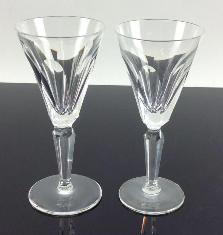 2Pc. Waterford Crystal Sherry Glasses, Sheila
