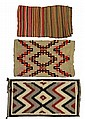 Lot of 3 Native American Navajo Rugs / Blankets