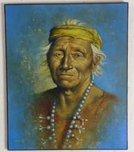 Bahe Untiled, Chief Paint on canvas