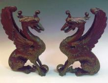 Sitting Winged Dragons