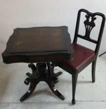 Claw Foot Table and Chair