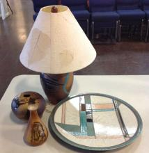 Four Piece Pottery w Lamp