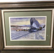 Ken Williams Locomotive Watercolor
