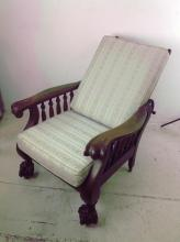 20th Century Morris Claw Foot Chair