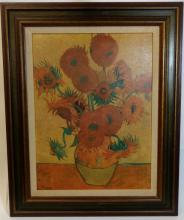 Vincent Untitled, Sunflower Vase Lithograph